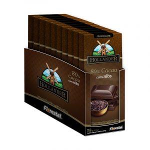 Chocolate 80% Cacau com Nibs